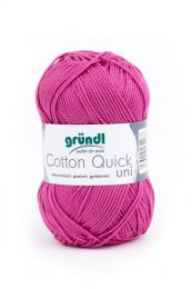 Gründl Wolle Cotton Quick Uni Nr.108 Orchidee