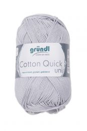 Gründl Wolle Cotton Quick Uni Nr.129 Hellgrau