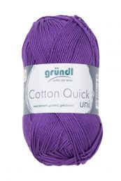 Gründl Wolle Cotton Quick Uni Nr.130 Violett