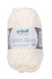 Gründl Wolle Cotton Quick Uni Nr.132 Creme