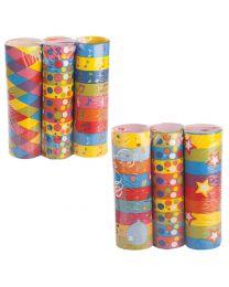 Papier-Luftschlangen (3er-Pack)