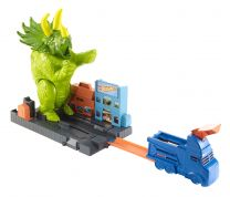 Hot Wheels City Triceratops- Angriff Spielset