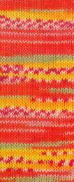 Gründl Wolle Hot Socks Lazise 4-fach Nr.03 Rot/Orange