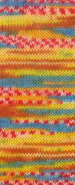 Gründl Wolle Hot Socks Lazise 4-fach Nr.04 Mais/Blau