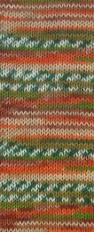 Gründl Wolle Hot Socks Lazise 4-fach Nr.07 Rostbraun/Tanne