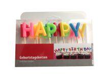 Happy Birthday Buchstaben-Geburtstagskerzen