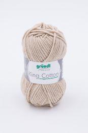 Gründl Wolle King Cotton Nr.03 Sand