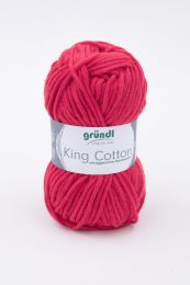 Gründl Wolle King Cotton Nr.06 Signalrot