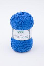Gründl Wolle King Cotton Nr.08 Royalblau