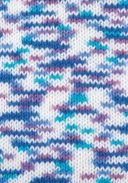 Gründl Wolle Lisa Premium Color Nr.01 Weiß-Petrol-Himbeer