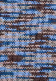 Gründl Wolle Lisa Premium Color Nr.14 Braun-Beige-Blau
