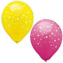 Luftballons bunt mit Sternen (15 Stück)