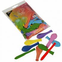Luftballons farbig (50 Stück)