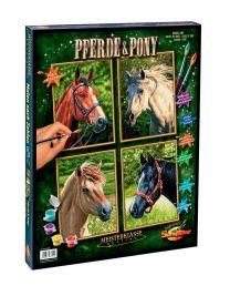 Schipper Malen nach Zahlen Pferde und Pony (Quattro)
