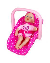 Lissi Babypuppe mit Auto-Sitz 33cm