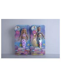 Puppe Lucy 29cm Meerjungfrau mit Wendpailetten