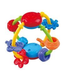 Baby Entdecker Ball mit lustigen Anhängern 12cm