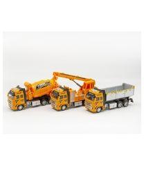Baustellen Truck 20cm aus Metall Rückzug und Licht