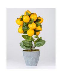 Deko-Zitronenbaum Getropft H40cm