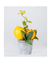 Deko-Zitronenbusch Getropft H23cm