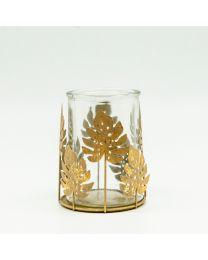 Windlicht Philodendron Metall 14x11cm