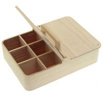 """Holzbox mit Henkel und Deckel """"Fachan"""""""
