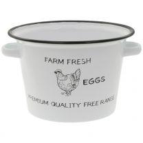 "Emaille-Topf ""Farm Fresh"" 22cm"