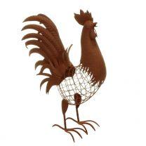 Gartenfigur Hahn aus Metall 70cm
