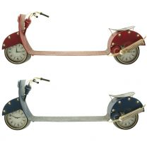 Wanduhr Motorroller XL 126cm