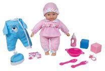 """Lissi """"Angelina"""" sprechendes Baby mit 6 Sounds und Qutfit"""