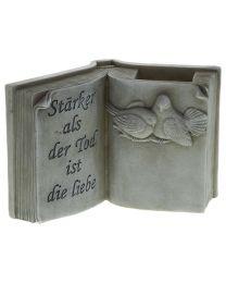 Grabdeko Buch mit Spruch 19x13cm