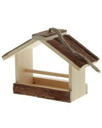 Vogelfutterhaus mit Rindendach 23x11x17cm