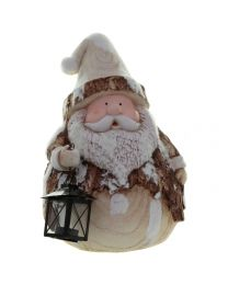 Deko Santa mit Laterne 37cm
