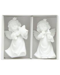 Engel mit Stern und Kerze (2er-Pack)