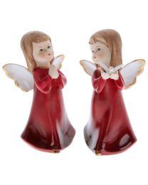 Engel stehend rot 13,3cm