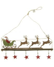 Hänger Weihnachtsmann 33x16cm