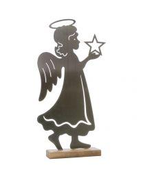 Engel mit Stern auf Sockel 37,5x20x6cm