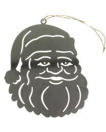 Hänger Weihnachtsmann Metall 26x20,5x0,2cm