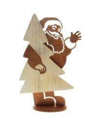 Weihnachtsmann mit Baum 31x19,5x8,5cm