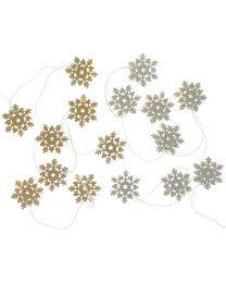 Girlande LED-Schneeflocke 115x5,5x1,5cm