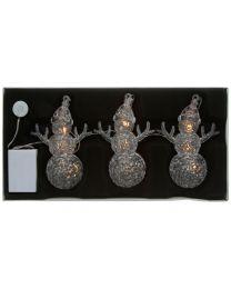 LED-Weihnachtsmannkette mit 3 Weihnachtsmännern