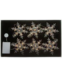 LED-Schneeflockenkette mit 6 Flocken