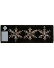 LED-Schneeflockenkette mit 3 Flocken