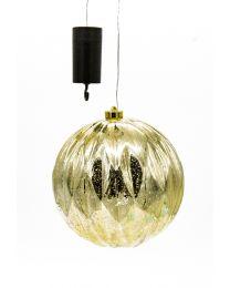 LED-Kunststoffkugel outdoor gold/silber D12cm