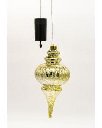 LED-Kunststoffzapfen outdoor gold/silber 27x12,5cm